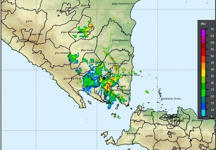 Cuaca Lampung Hari Ini, Awas Hujan Lebat Disertai Angin