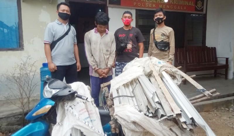 Curi Kusen Aluminium, Warga Menggala Selatan Ditangkap Polisi