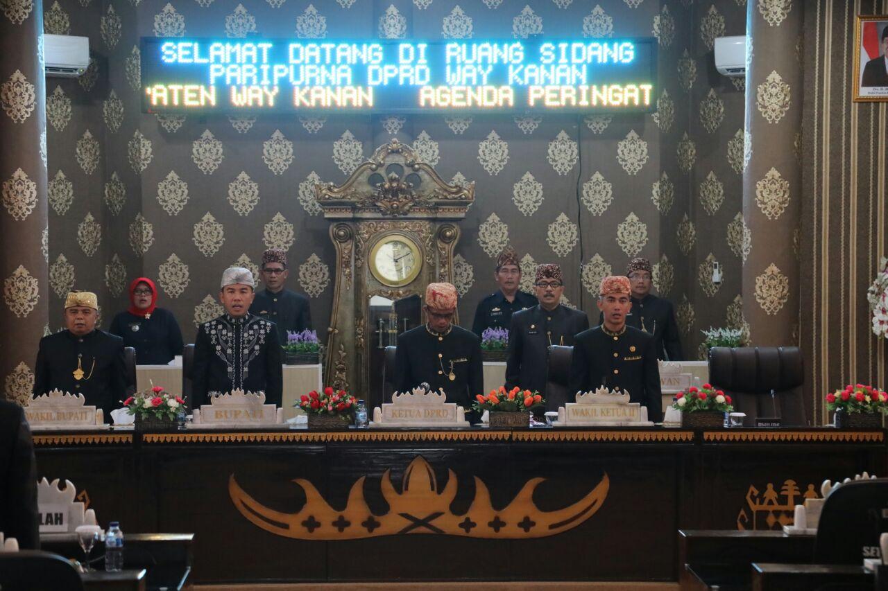 Way Kanan Gelar Rapat Paripurna Istimewa dalam Rangka HUT ke-54 Provinsi Lampung