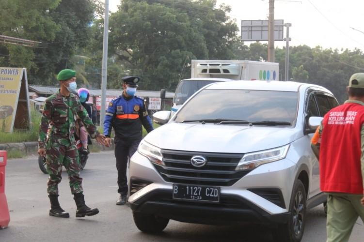Daftar 22 Jalan di Bandar Lampung yang Disekat Selama Perpanjangan PPKM Level 4