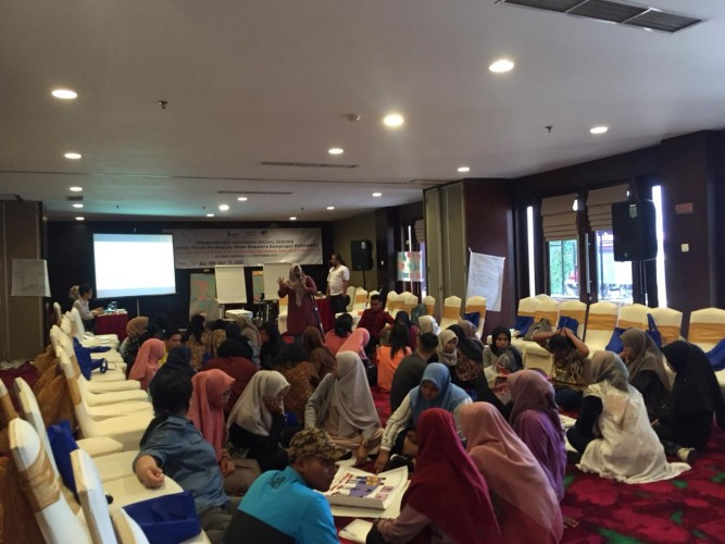 Damar Lampung Gelar Lokalatih Forum Perempuan