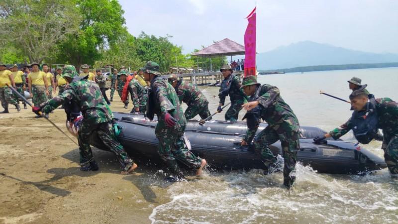 Danbrigif 4 Marini Lepas Lomba Dayung