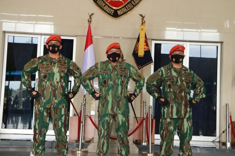 Dankorpaskhas Pimpin Sertijab Dansat Bravo90 Paskhas TNI AU