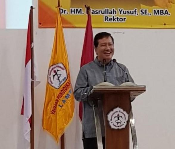 Danrem 043/Gatam Dorong Mahasiswa Teknokrat Jadi Pemimpin Nasionalis