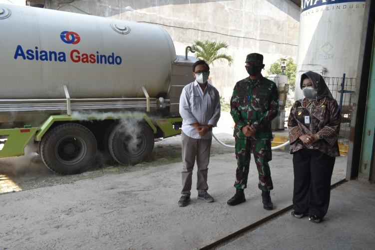 Korem 043/Gatam Terima Bantuan 13,7 Ton Bahan Baku Oksigen untuk Pasien Covid-19