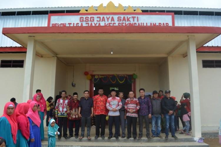 Dari Dana Desa, Masyarakat Pekon Tigaya Miliki GSG
