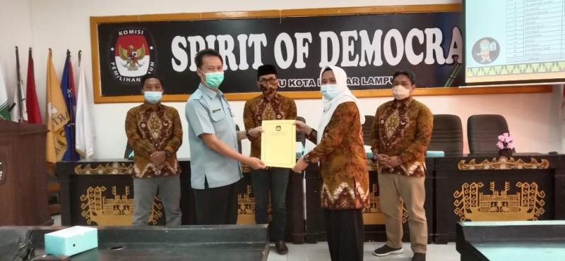 Data Pemilih Bandar Lampung Naik 13.147