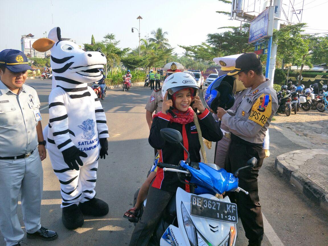 Polres Lampura Tilang 2.046 Pengendara di Operasi Patuh Krakatau 2018