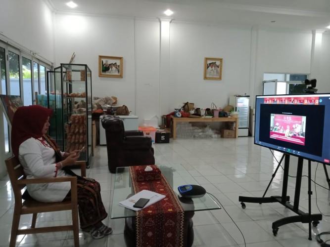 Dekranasda Tubaba Ikuti Munas Secara Virtual