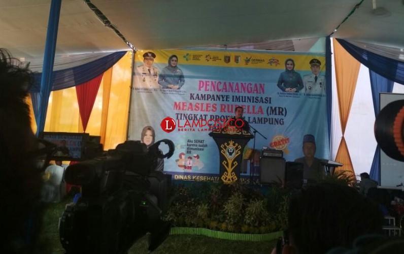 Dendi Apresiasi Kampanye MR Tingkat Provinsi di Pesawaran