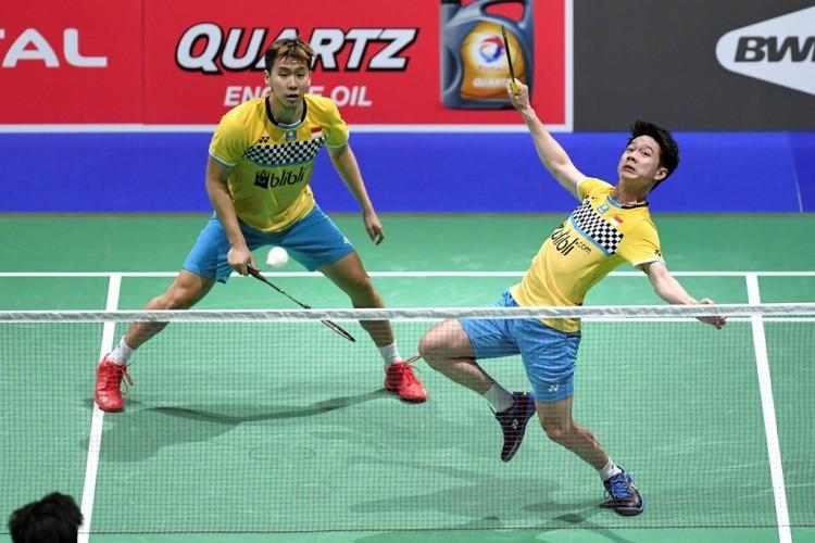 Denmark Open 2019: Marcus/Kevin ke Semifinal dalam 25 Menit