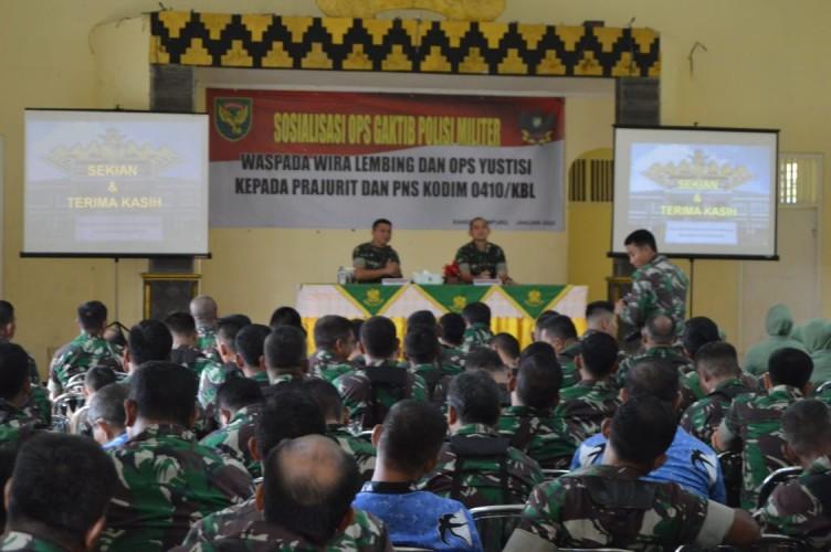 Denpom II/3 Lampung Ingatkan Prajurit Hindari Pelanggaran