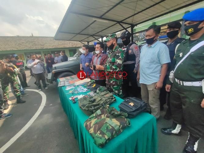 Denpom Lampung Tangkap Perwira TNI Gadungan