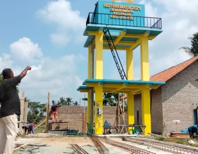 Desa Bumidaya Lamsel Suplai Kebutuhan Air Bersih Warga lewat Pamsimas