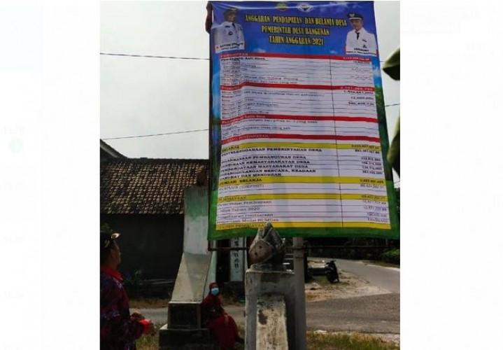 Desa Diimbau Publikasikan Realisasi APBDes