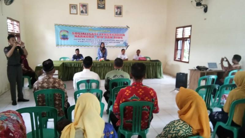 Desa Rejomulyo-BNN Lamsel Berikan Penyuluhan Bahaya Narkoba