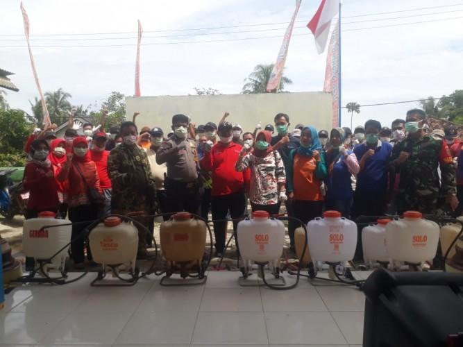 Desa Sabahbalau Lakukan Disinfeksi Korona