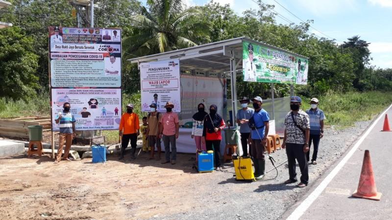 Desa Se-Mesuji Dirikan Posko Pencegahan Korona