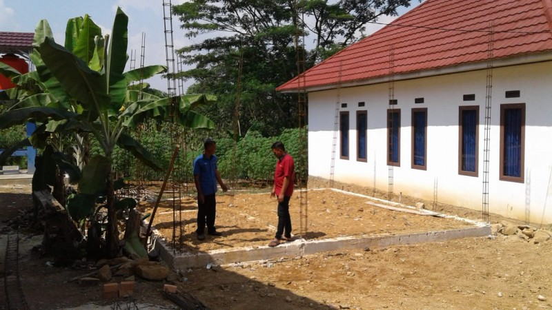 Desa Way Isem Bangun Gedung Perpustakaan