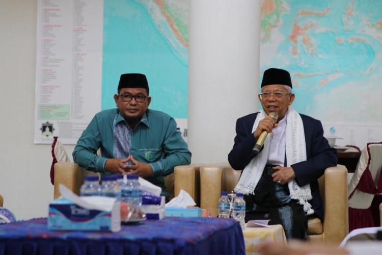 Di Pesantren Hidayatullah, Ma'ruf Amin Ajak Kembangkan Islam Moderat