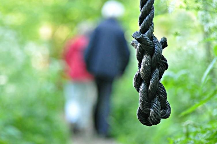 Diduga Depresi,  Seorang Kakek Gantung Diri di Pohon