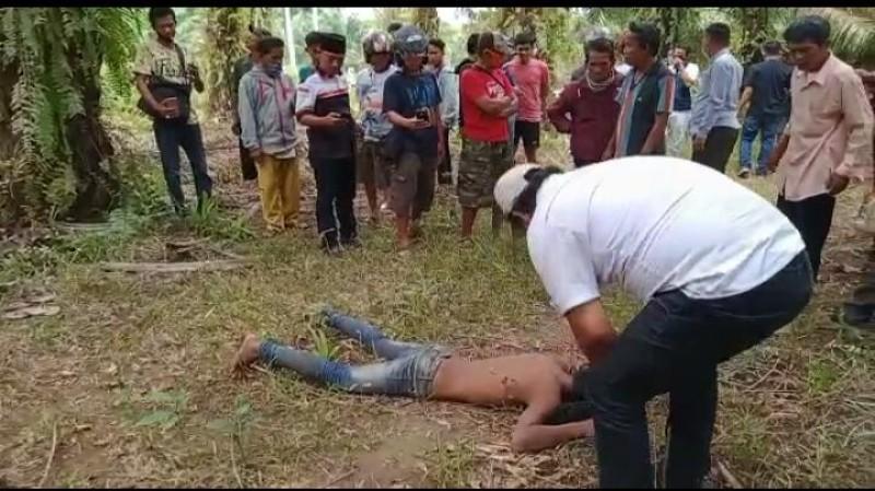 Diduga Jadi Korban Begal, Pemuda Ditemukan Tergeletak di Tengah Kebun Sawit