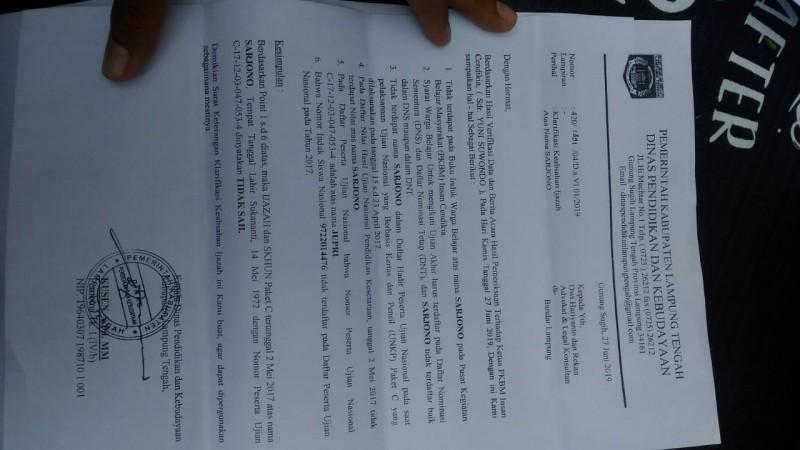 Diduga Pakai Ijazah Palsu, Caleg asal Lambar Dilaporkan ke Polda