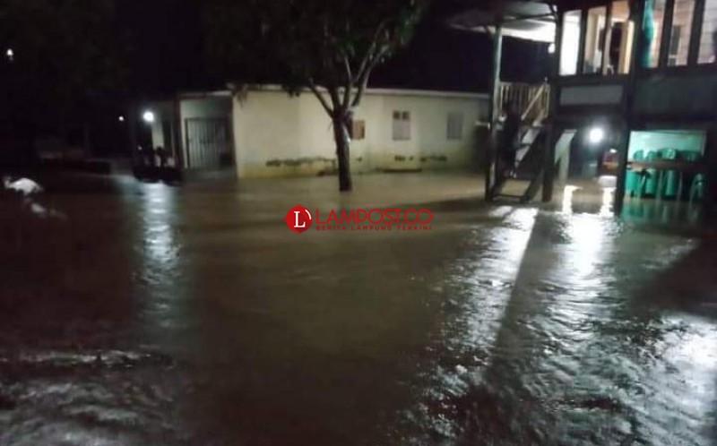 Diguyur Hujan Semalam, Sejumlah Wilayah dan Ruas Jalan di Tanggamus Tergenang