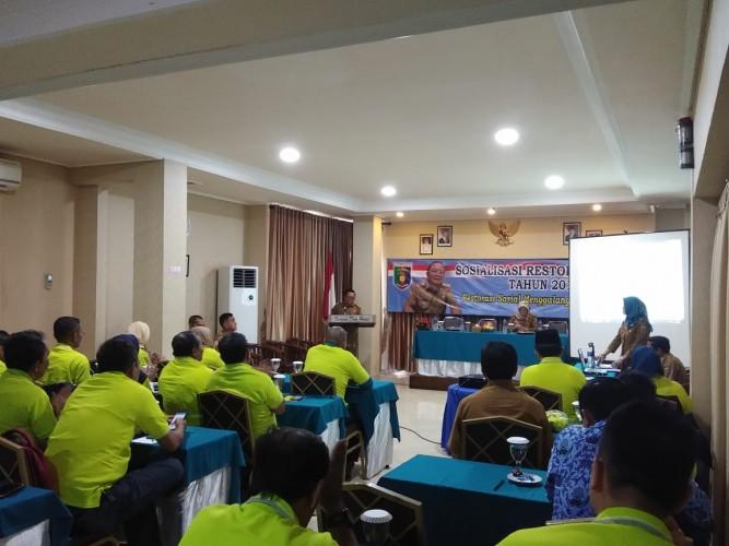 Dinas Sosial Provinsi Lampung Gelar Sosialisasi Restorasi Sosial