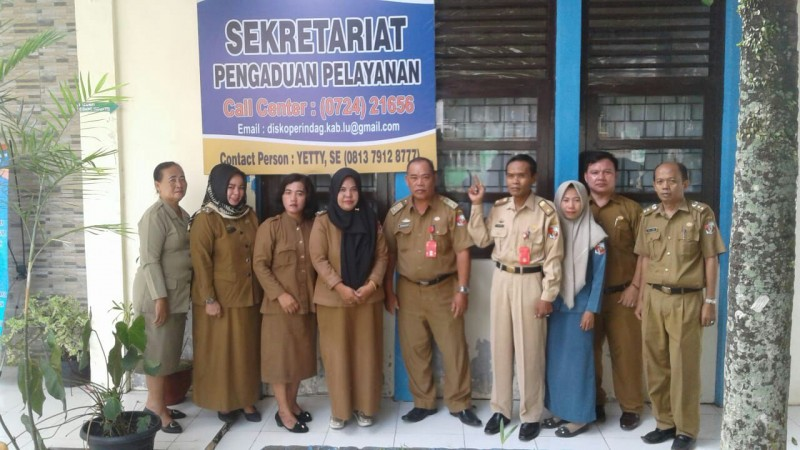 Dinka UMKMP Lampura Membuka Sekretariat Pengaduan Pelayanan