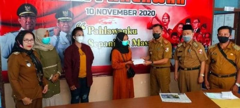 Dinsos Tubaba Santuni Korban Sriwijaya Air SJ182