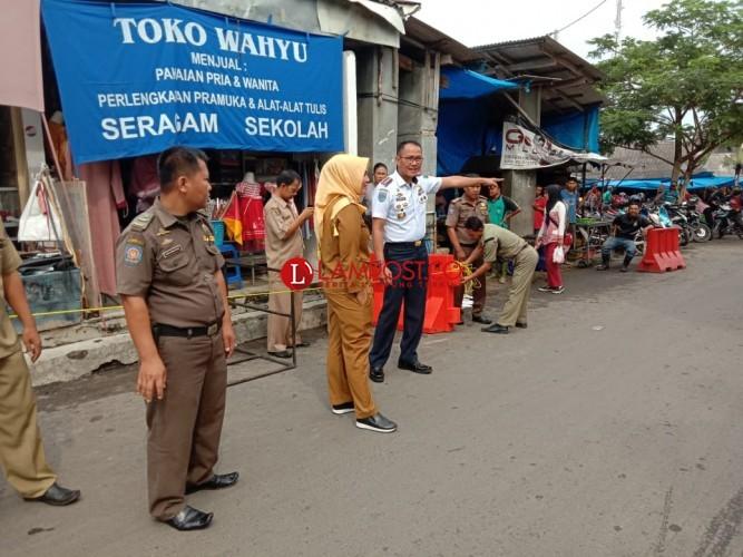 Dishub dan Satpol PP Tertibkan Parkir Liar di Pasar Inpres Kalianda