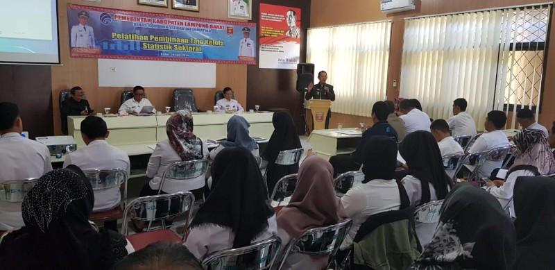 Diskominfo Lambar Gelar Pelatihan Pembinaan Tata Kelola Statistik Sektoral