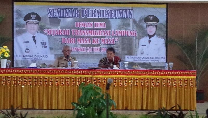 Disnakertrans LampungGelar Seminar Permuseuman