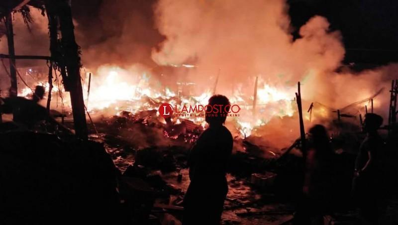 Ditinggal Latihan Pencak Silat, Rumah Warga di Tubaba Ludes Terbakar