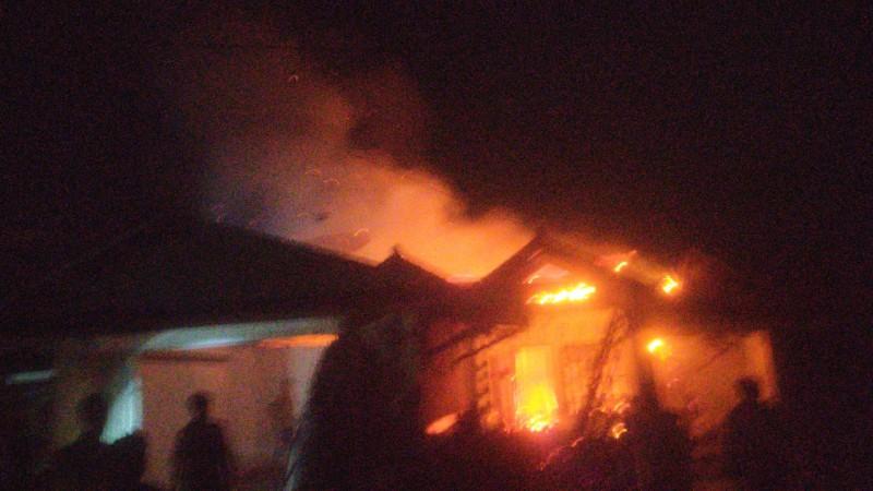 Ditinggal Pengajian, Rumah Mumun Ludes Terbakar