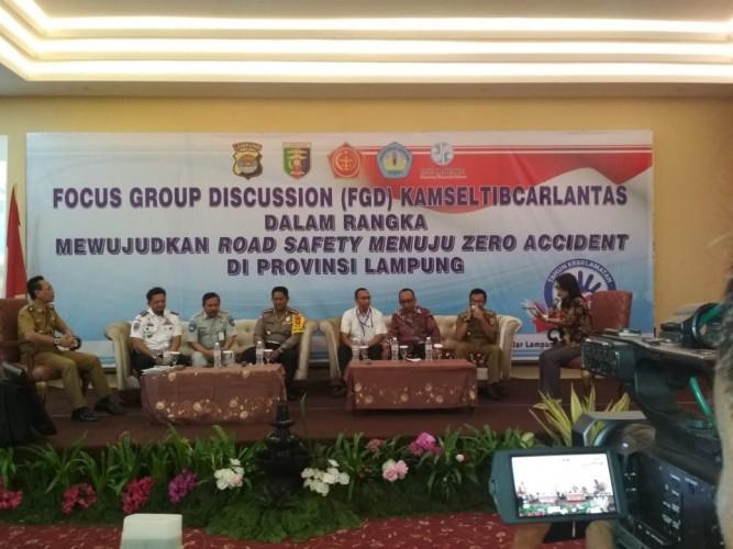 Ditlantas Polda Lampung Gelar FGD Bahas Penanganan Lakalantas