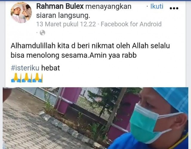 Ditolong Warga, Korban Penusukan Minta Live Facebook