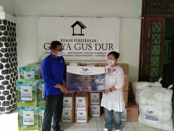 DK Media Group Salurkan Bantuan APD via Jaringan Gusdurian