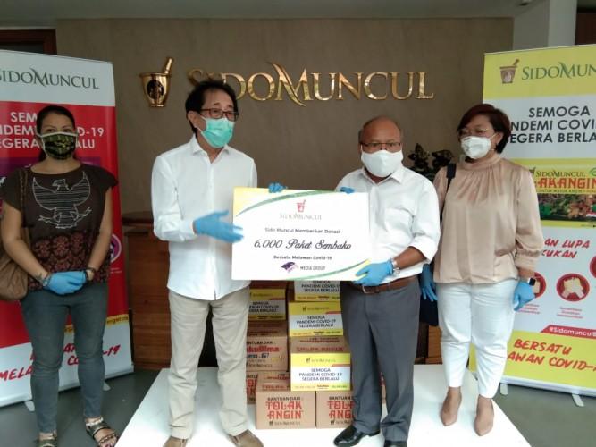 DK Media Group Terima Bantuan Paket Bahan Pokok dari Sido Muncul