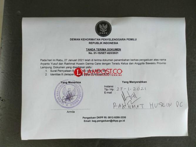 DKPP Cek Laporan Dugaan Pelanggaran Bawaslu Lampung