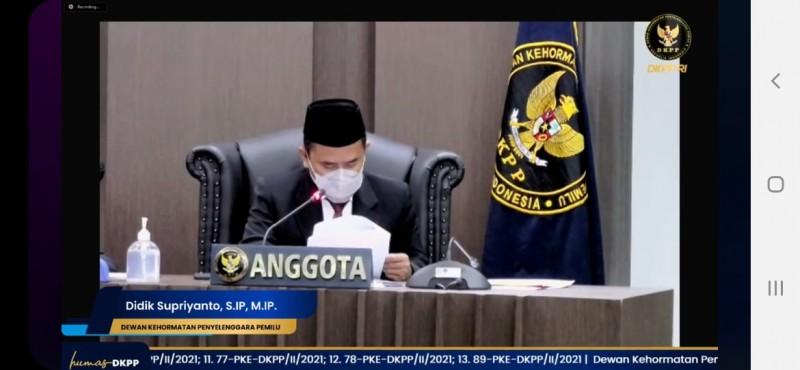 DKPP Putuskan Bawaslu Lampung Tak Langgar Kode Etik