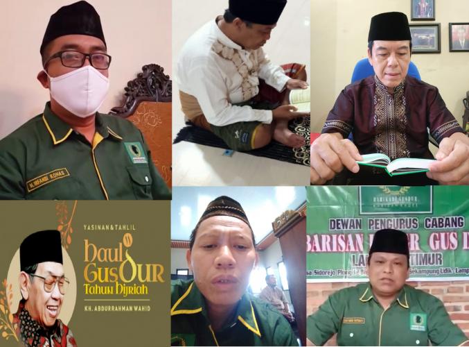 Doa dari Rumah Tak Mengurangi Khidmat Haul Ke-11 Gus Dur di Lampung