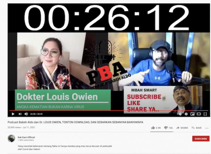 Dokter Lois Ditangkap Usai Tuding Pasien Covid-19 Meninggal karena Obat