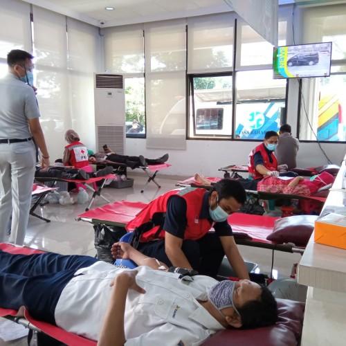 Donor Darah Jasa Raharja Suplai Kebutuhan PMI