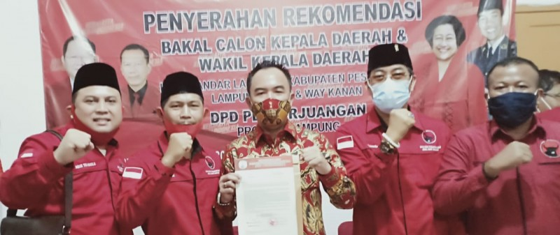 DPC PDI Perjuangan Way Kanan Siap Menangkan Pasangan BERANI Jilid II