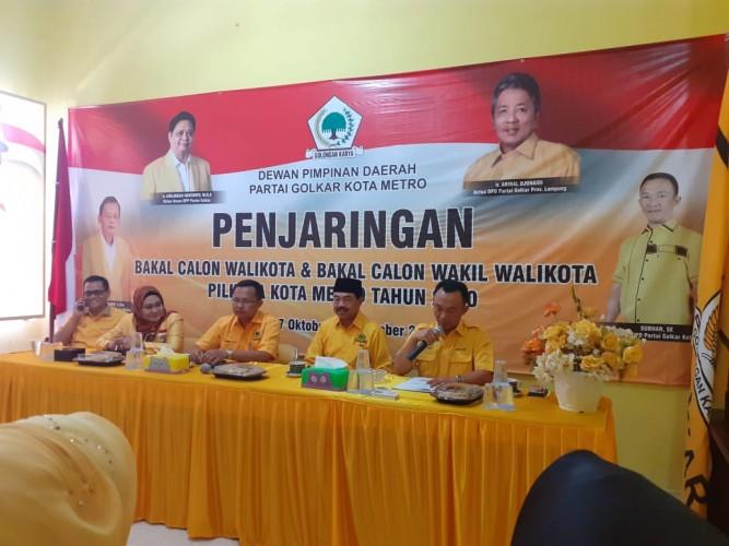 DPD Golkar Metro Gelar Rapat Koordinasi Tim Penjaringan Pilwakot