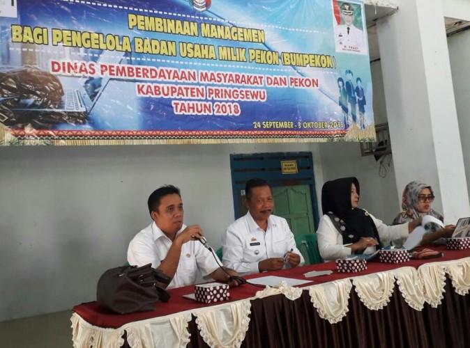 DPMP Pringsewu Gelar Pembinaan pada Pengelola BUMDes