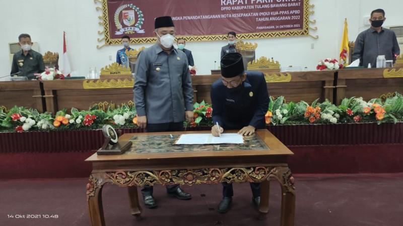 DPRD dan Pemkab Tubaba Sepakati KUA-PPAS APBD 2022