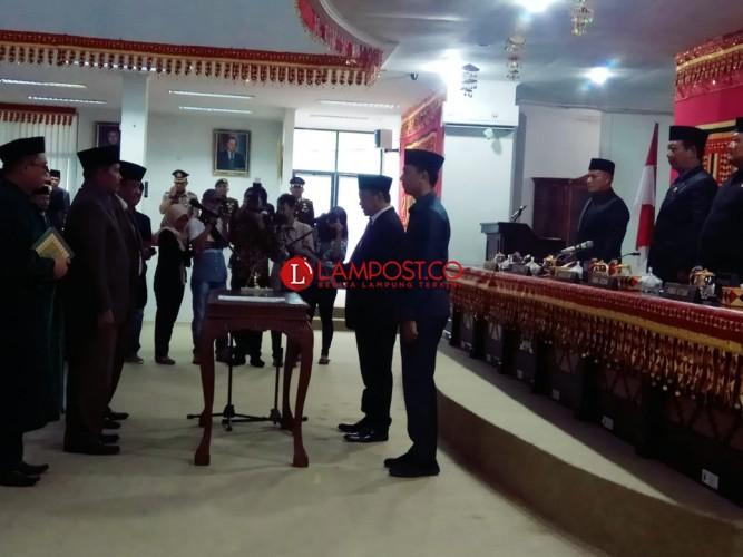 DPRD Lamsel Gelar Rapat Paripurna Istimewa PAW Pejabat